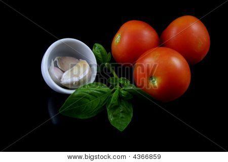 Basil, Tomato, Garlic