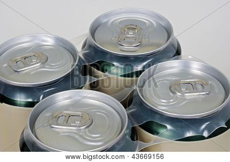 Un-opened drinks cans.