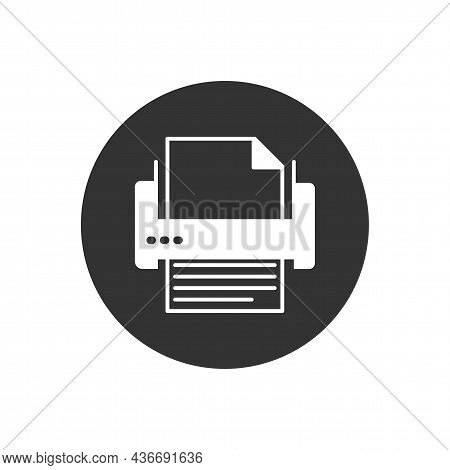 Printer Or Fax Related Glyph Icon. Editable Glyph Web Symbol. Office Equipment Vector Illustration.