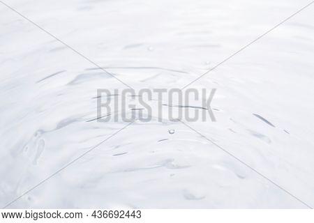 Water ripple texture background, white design