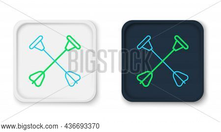 Line Arrow With Sucker Tip Icon Isolated On White Background. Colorful Outline Concept. Vector