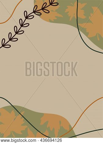 Autumn Poster. Autumn Pattern. Fall Wallpaper With Leaves. Vector