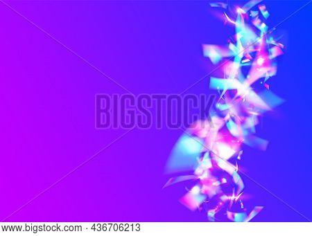 Rainbow Effect. Birthday Sparkles. Retro Banner. Party Vaporwave
