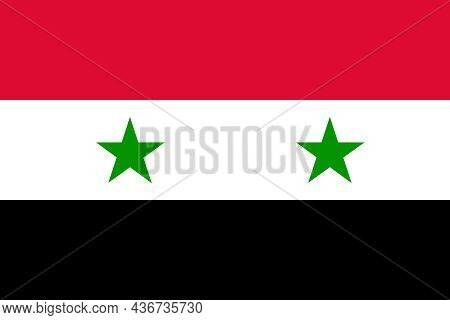 The Flag Of The Syria Officially The Syrian Arab Republic Is A Country In Western Asia