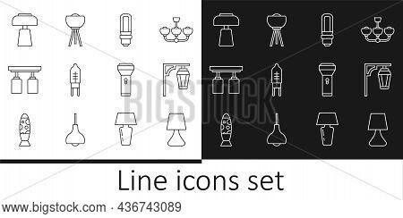 Set Line Table Lamp, Vintage Street Light, Led Bulb, Light Emitting Diode, Led Track Lights And Lamp