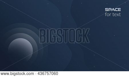 Vector Abstract Background. Concept, Space, Infinite Universe. Dark Background With Fluid Objects, S