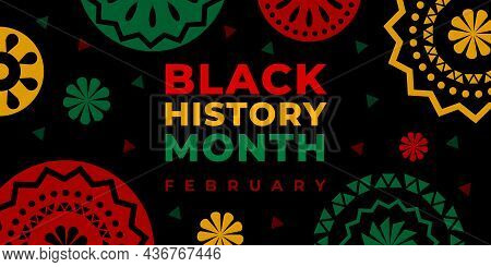 Black History Month. Vector Web Banner, Poster, Card For Social Media, Networks. Abstract Decoration