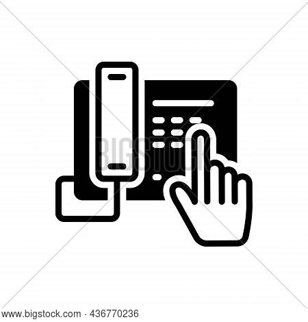 Black Solid Icon For Dial Contact Number Enter Telephone Communication