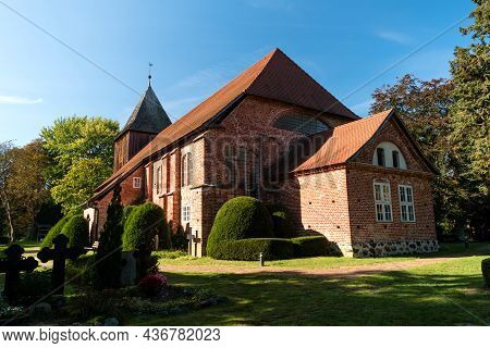 Boatman's Church Of Prerow On The Darss In Germany
