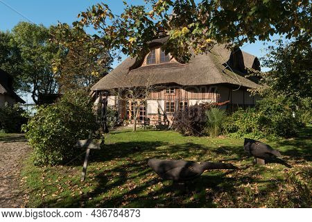 Barnstorf On Darss, Germany - October 06, 2021: The Village Is Known For Its Picturesque Colorful Th