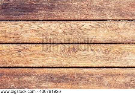 Grunge Background Of Weathered Painted Wooden Plank. Close View Of Wooden Plank Table
