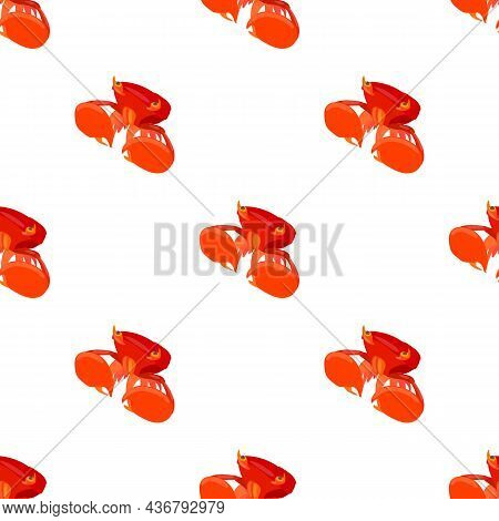 Crab With Big Claws Pattern Seamless Background Texture Repeat Wallpaper Geometric Vector