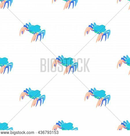 Cancer With Large Claws Pattern Seamless Background Texture Repeat Wallpaper Geometric Vector