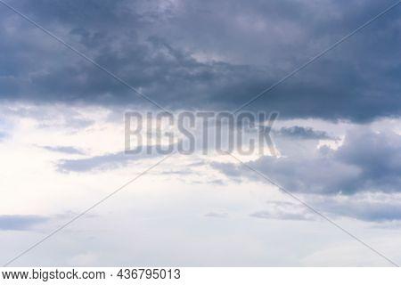 Dramatic Cloud Sky Background Heawy Rainy Clouds Beautiful Cloudscape Blue Colors
