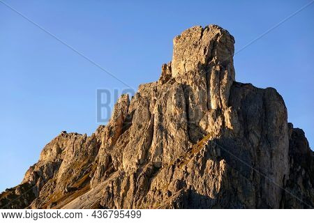 Ra Gusela peak in the Dolomites, Italy, Europe
