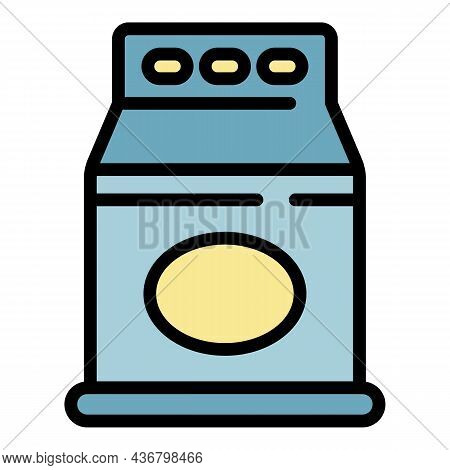 Domestic Detergent Package Icon. Outline Domestic Detergent Package Vector Icon Color Flat Isolated