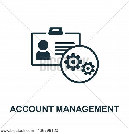 Account Management Icon. Monochrome Sign From Company Management Collection. Creative Account Manage
