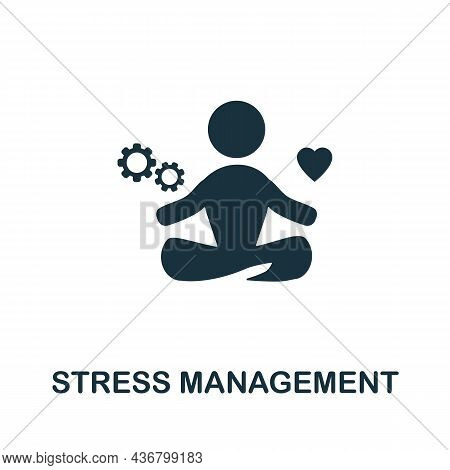 Stress Management Icon. Monochrome Sign From Company Management Collection. Creative Stress Manageme