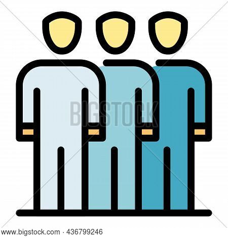 Business Partner Icon. Outline Business Partner Vector Icon Color Flat Isolated