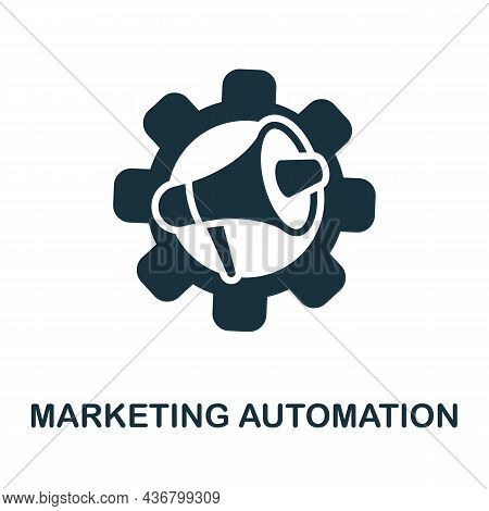 Marketing Automation Icon. Monochrome Sign From Content Marketing Collection. Creative Marketing Aut
