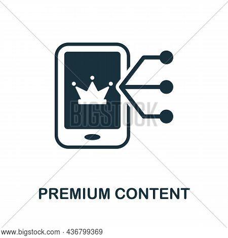 Premium Content Icon. Monochrome Sign From Content Marketing Collection. Creative Premium Content Ic