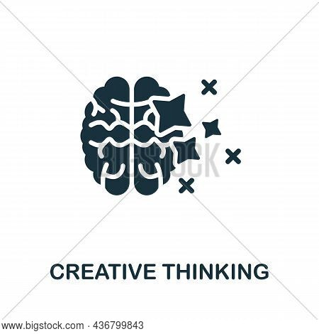 Creative Thinking Icon. Monochrome Sign From Creative Learning Collection. Creative Creative Thinkin