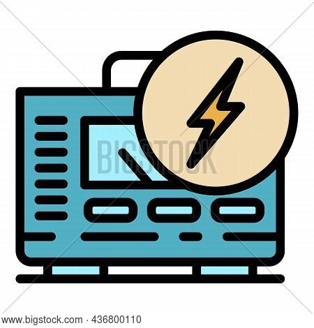 Electric Stabilizer Icon. Outline Electric Stabilizer Vector Icon Color Flat Isolated