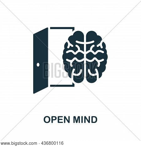 Open Mind Icon. Monochrome Sign From Creative Learning Collection. Creative Open Mind Icon Illustrat