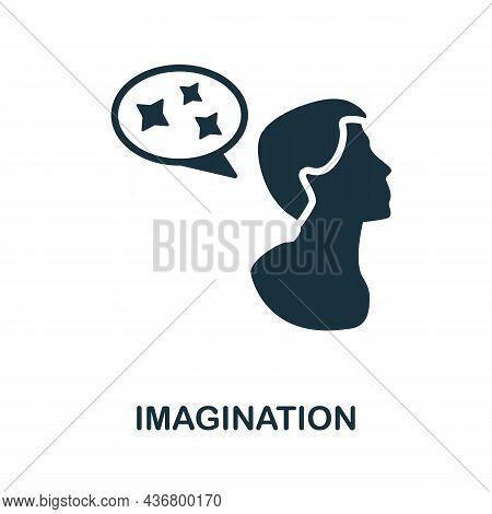 Imagination Icon. Monochrome Sign From Creative Learning Collection. Creative Imagination Icon Illus