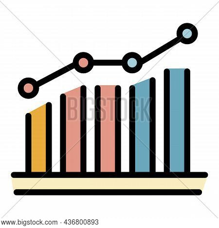 Credit Score History Icon. Outline Credit Score History Vector Icon Color Flat Isolated
