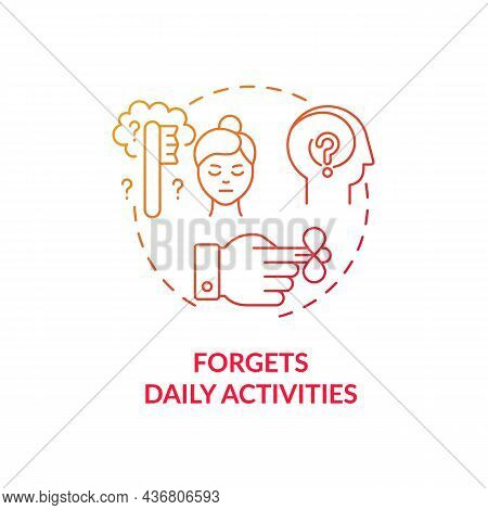 Forgets Daily Activities Concept Icon. Inattentive Symptom Abstract Idea Thin Line Illustration. Exc