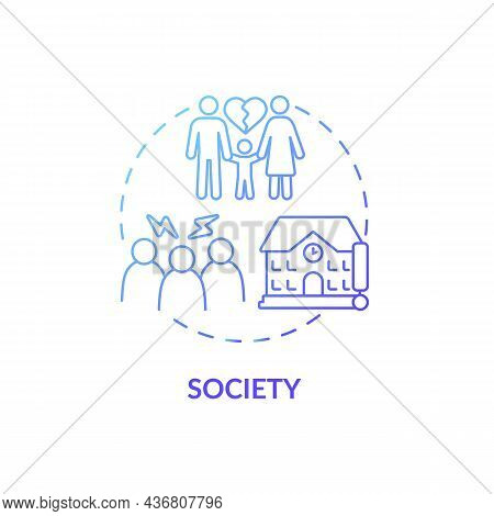 Society Concept Icon. Adhd Cause Abstract Idea Thin Line Illustration. School And Work Settings. Aff