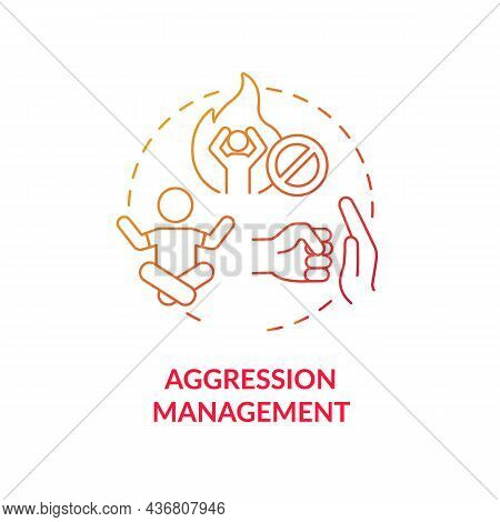 Aggression Management Concept Icon. Parenting Tip For Adhd Abstract Idea Thin Line Illustration. Chi