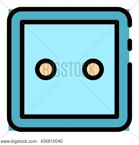 Classic Socket Icon. Outline Classic Socket Vector Icon Color Flat Isolated