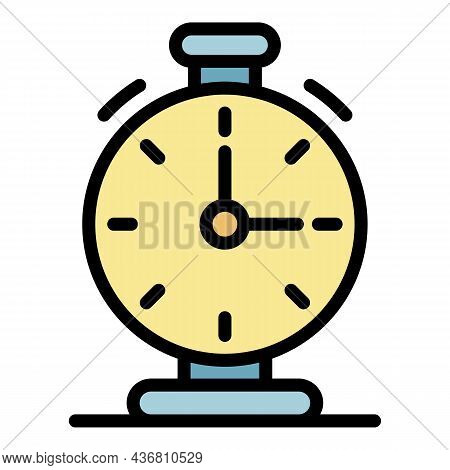 Soccer Stopwatch Icon. Outline Soccer Stopwatch Vector Icon Color Flat Isolated