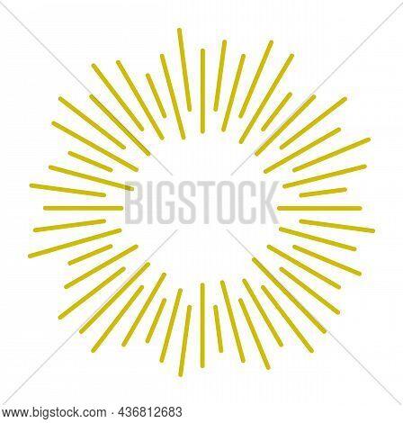 Sunburst Icon. Star Rays Blast. Radial Light Sparks