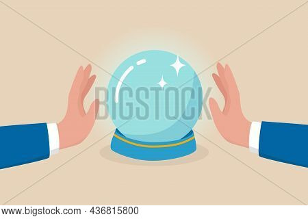 Business Forecast, Investment Stock Market Prediction Or Super Power To See Future, Fortune Teller T