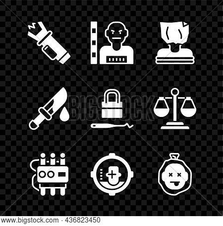 Set Police Electric Shocker, Suspect Criminal, Kidnaping, Dynamite And Timer Clock, Headshot, Murder