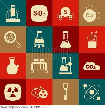Set Atom, Co2 Emissions In Cloud, Laboratory Glassware, Sulfur Dioxide So2, Test Tube, Microorganism