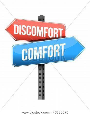 Discomfort Versus Comfort Road Sign
