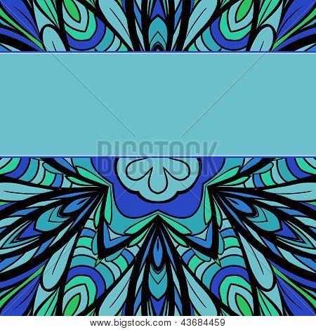 Blue-green Pattern With Stripe