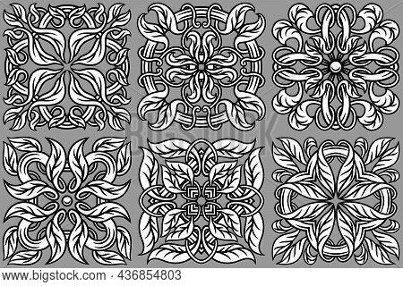 Portuguese Azulejo Ceramic Tile Pattern. Mediterranean Traditional Ornament. Italian Pottery Or Span
