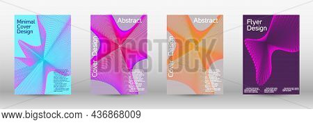 A Colorful Psychedelic Background Made From Intertwined Curved Shapes.