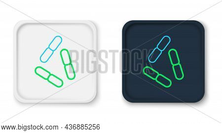 Line Virus Icon Isolated On White Background. Corona Virus 2019-ncov. Bacteria And Germs, Cell Cance