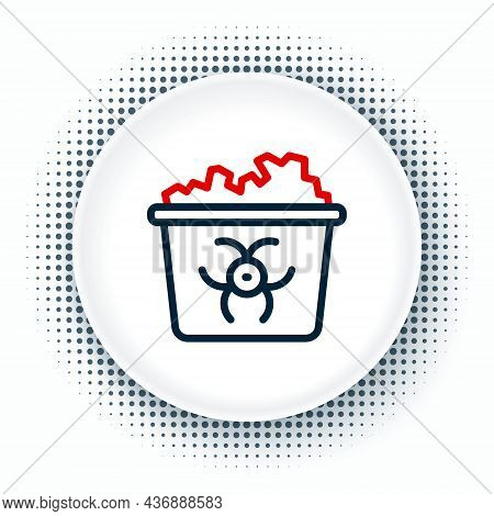 Line Infectious Waste Icon Isolated On White Background. Tank For Collecting Radioactive Waste. Dump