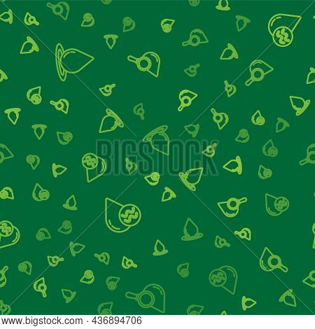 Set Line Water Drop, Recycle Clean Aqua And Drop And Magnifying Glass On Seamless Pattern. Vector