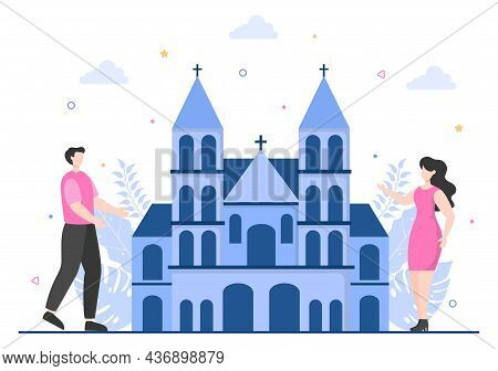 Travel To Germany Background Vector Illustration. Time To Visit The Icon Landmarks Of These World Fa