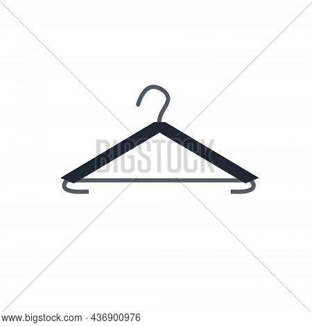 Hanger. Wardrobe Aluminum Item For Storing Clothes. Flat Cartoon Illustration