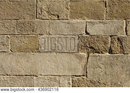 Decorative Concrete Tiles. Grey Concrete Wall. Grunge Concrete Wall