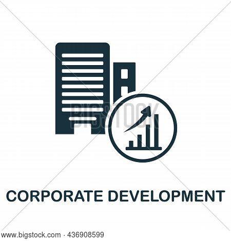 Corporate Development Icon. Monochrome Sign From Corporate Development Collection. Creative Corporat